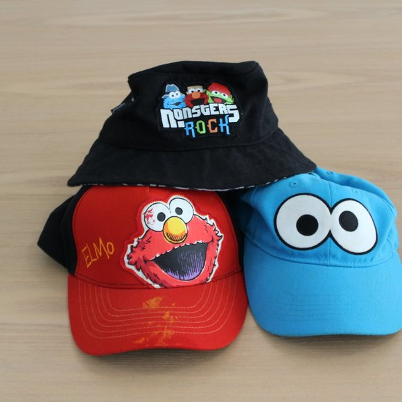 Coppertone Other - Sesame Street Hat Bundle, Elmo, Cookie Monster
